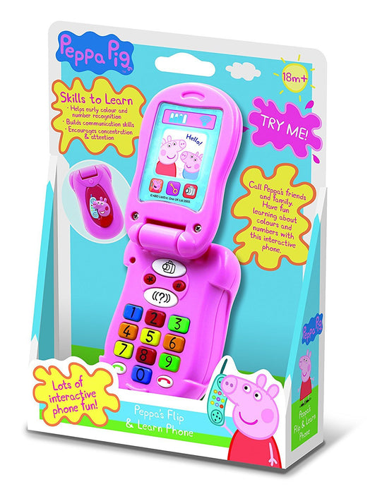 Peppa Pig PP06 Flip and Learn Phone Electronic Toy