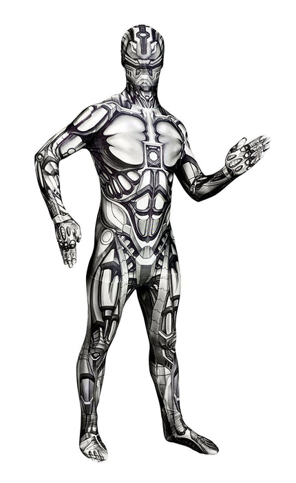 "Android Morphsuit Monster Fancy Dress Costume - size Large - 5""5-5""9 (163cm-175cm)"