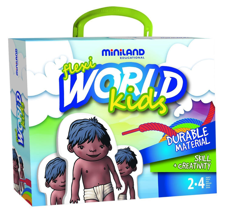 Miniland 36061 Flexi World Kids, Game