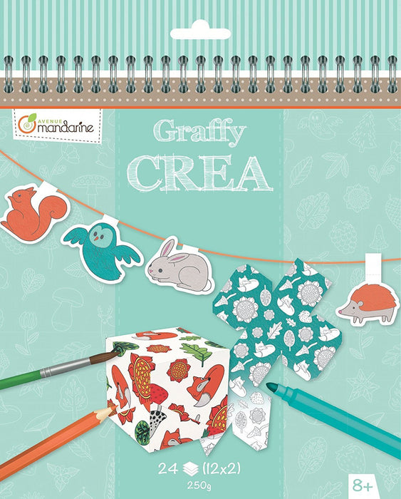 "Avenue Mandarine Graffy Crea ""Colour and Create Your Own Lovely"" Boxes and Garlands (Black/White)"
