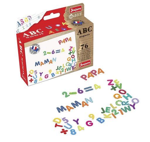 Jeujura - 8972 - Table - Magnets ABC and Numbers Set of 76 characters