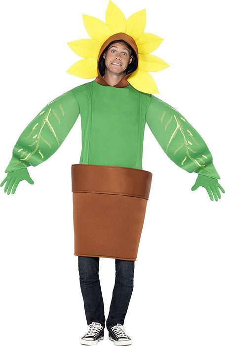 Smiffy's Adult Sunflower Costume multicoloured One Size