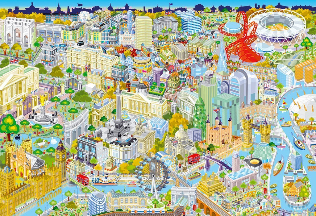 London from Above Jigsaw Puzzle (500-Piece)