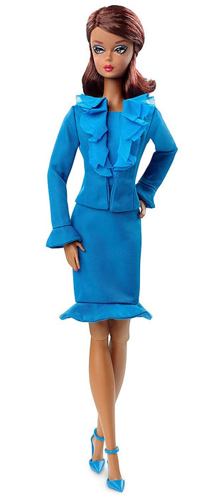 Barbie Fashion Model Collection Suit Doll Blue