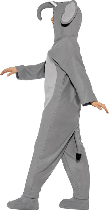 Smiffy's Adult Unisex Elephant Costume, All In One Jumpsuit, Size: L, Colour: Grey, 27827