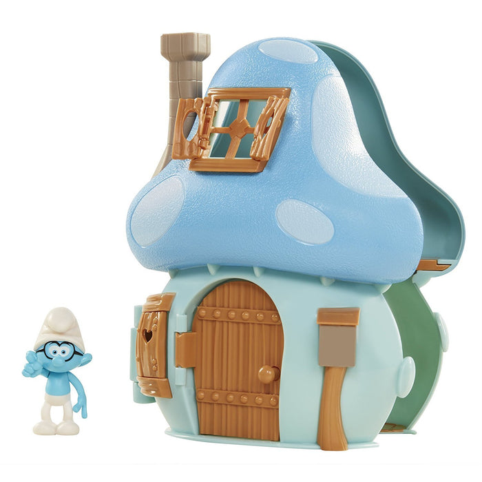 Smurfs 96572-EU Mushroom House Playset with Brainy