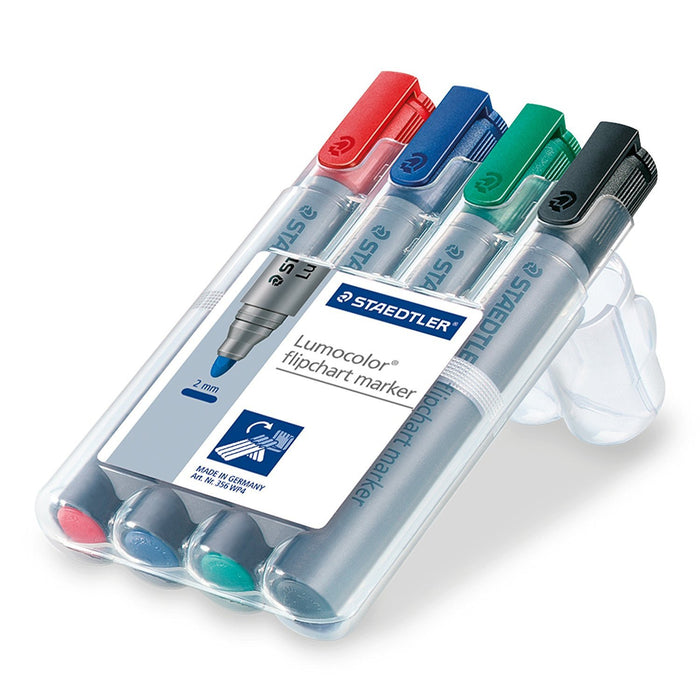 Staedtler Lumocolor Flipchart marker 356 WP4 - Assorted Colours (Pack of 4)