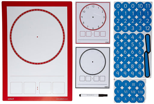 "Inspirational Classrooms 3119904 ""Magnetic Multi Board and Dry Wipe Clock Faces"" Educational Toy"