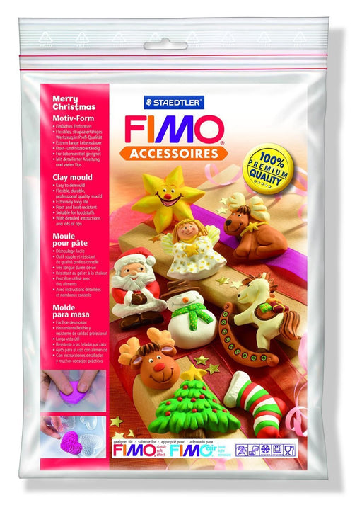 FIMO Merry Christmas Clay Mould, White