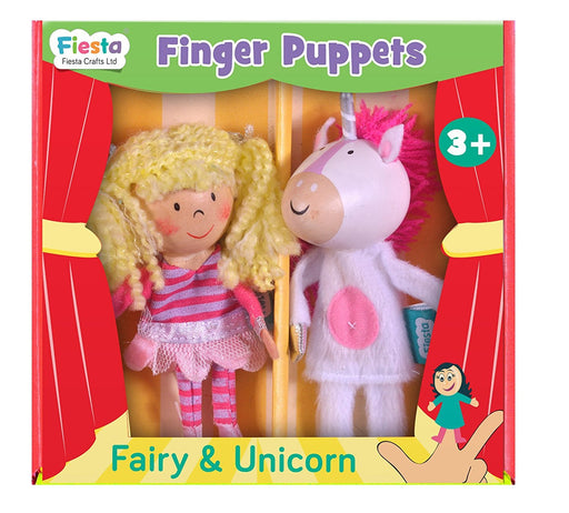 Fiesta Crafts Fairy and Unicorn Finger Puppet Set (2-Piece)