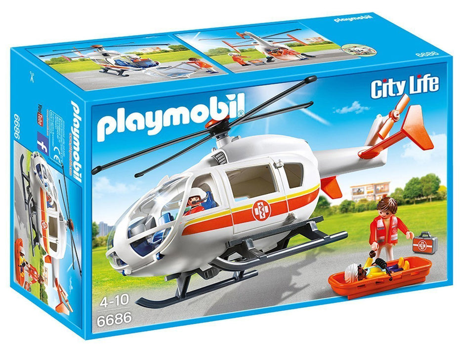 Playmobil 6686 City Life Children's Hospital Emergency Medical Helicopter