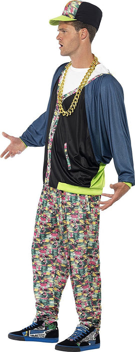 Smiffy's  Men's 80's Hip Hop Costume, Jacket, trousers and Hat, Back to the 80's, Serious Fun, One Size, 43198