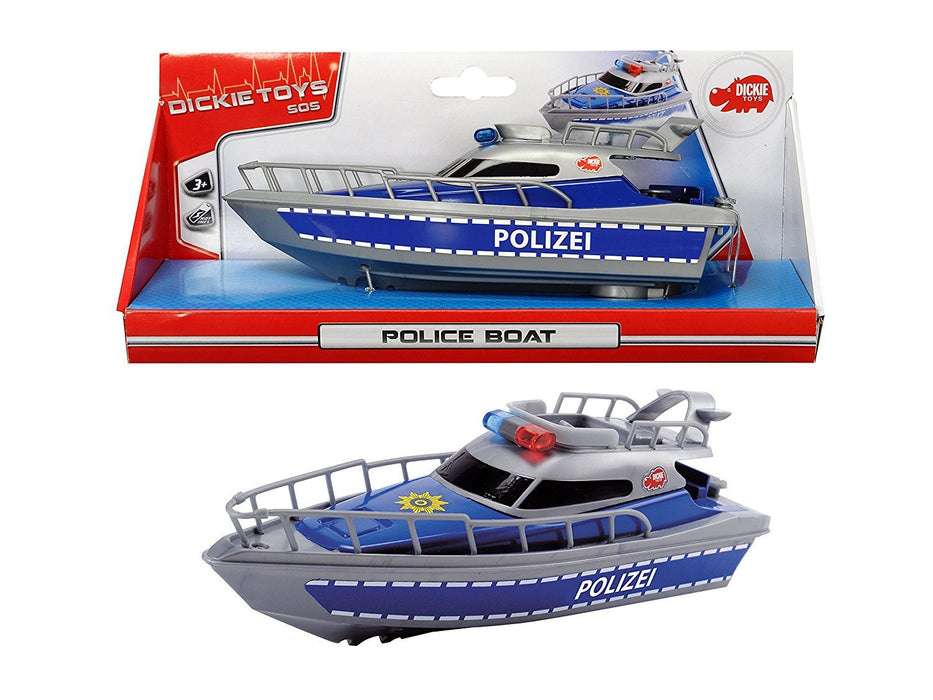Dickie Toys Police Boat (Multi-Colour)
