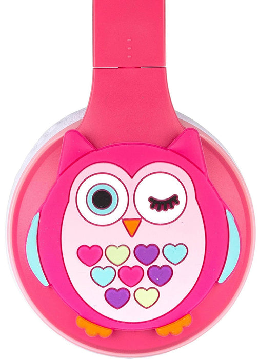 My Doodles Childrens Rechargeable Wireless Bluetooth On-Ear Headphone for Smarthphones - Owl