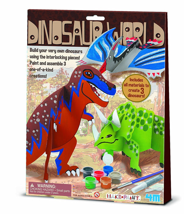 "4M ""Dinosaur World"" Make Your Own Craft (Multi-Colour)"