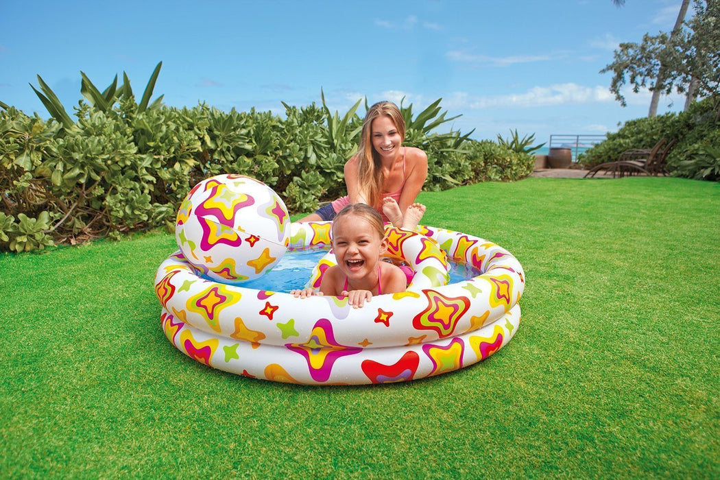 Intex Stars Pool Set with Beach Ball and Swim Ring