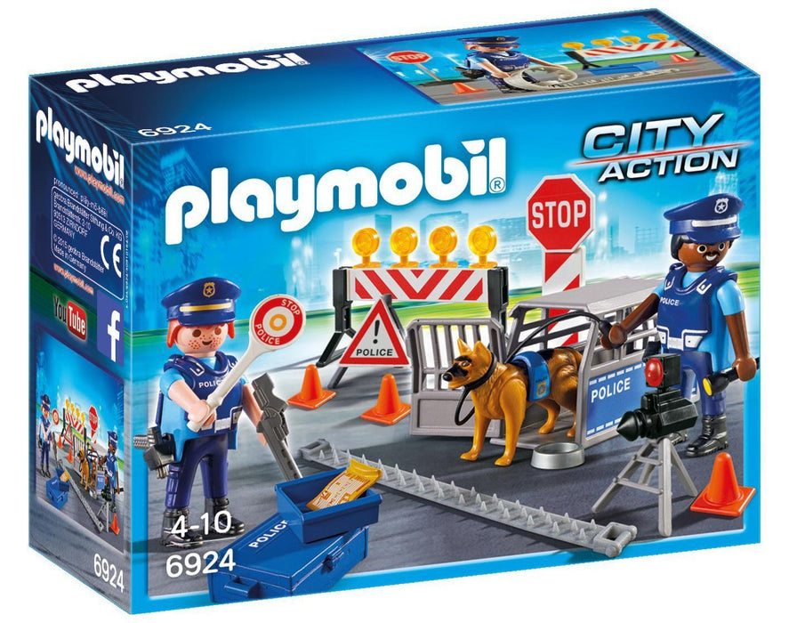 Playmobil 6924 City Action Police Roadblock with 2 Police Officers Toy