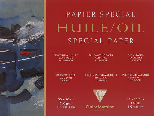 Clairefontaine 30 x 40 cm Oil Paper Pad in Assorted Colours
