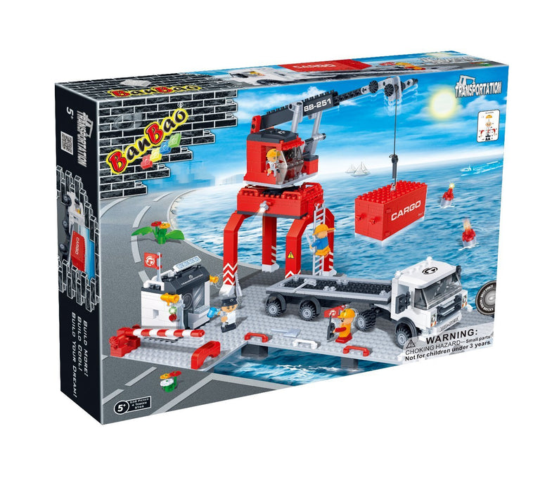 BanBao Loading Port Toy Building Set, 538-Piece