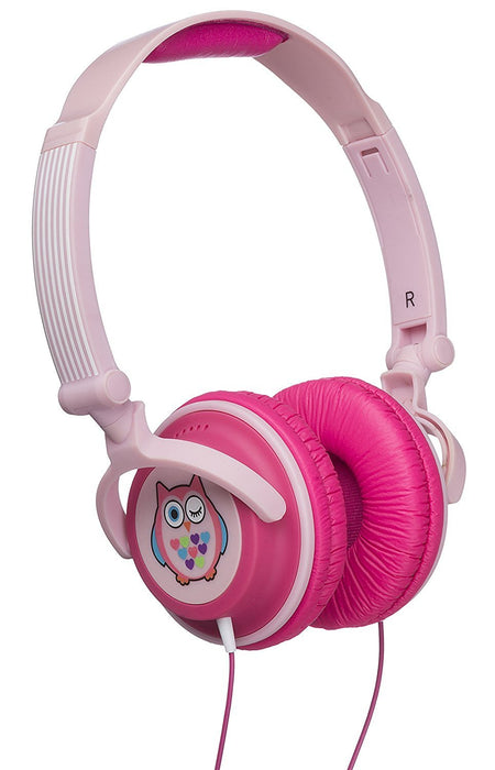 My Doodles by KitSound Fun Novelty Child Friendly Character 85Db Volume Limiting On-Ear Headphones Compatible with Smartphones, Tablets and MP3 Devices - Owl