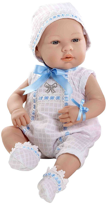 Arias 42 cm Elegance Real Baby Swarovski Elements Doll (White/Blue)