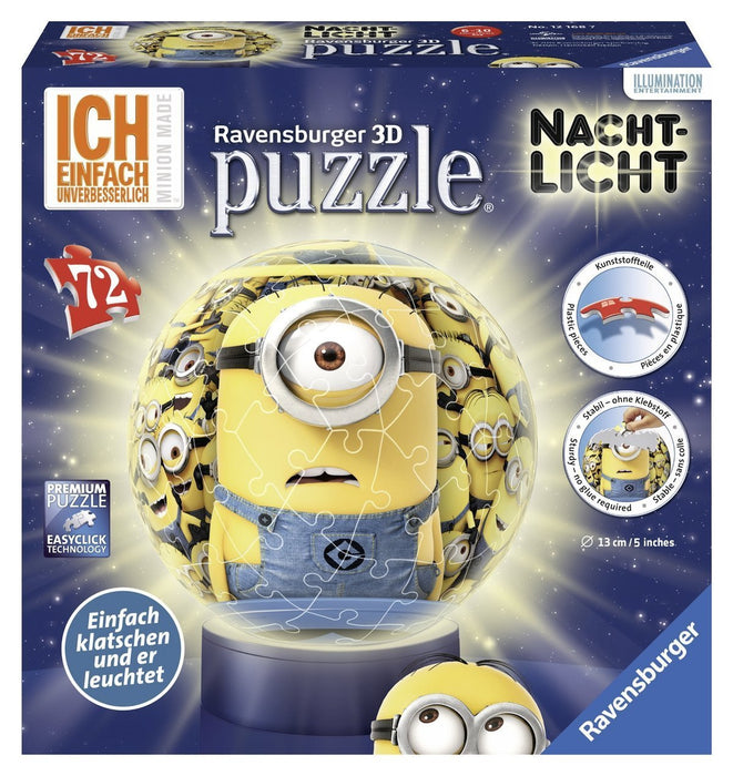 "Ravensburger 12168 7 ""Minions""  Puzzle 3D/Night Light (72-Piece)"