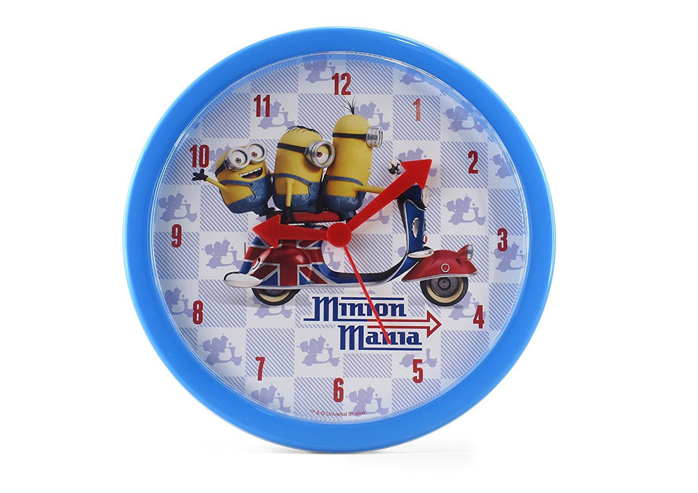 Joy Toy 90324 24 cm Minions Plastic Clock in Gift Wrap