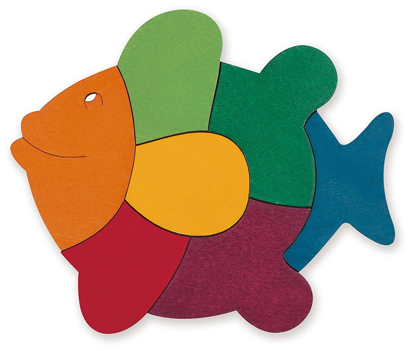 George Luck GLU-E6502 Rainbow Fish Wooden Puzzle