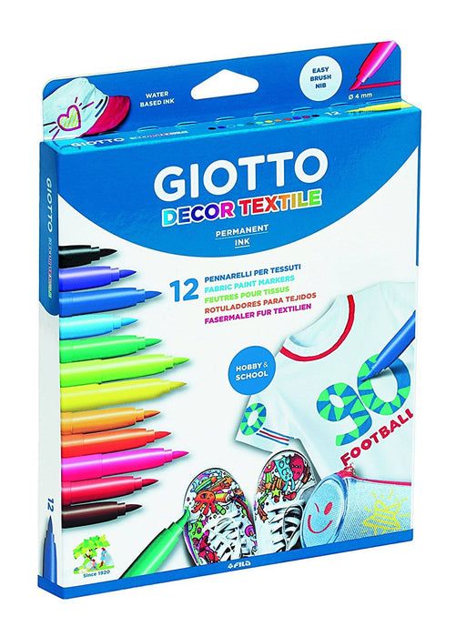 Giotto Decor Textile Markers 12 Pack
