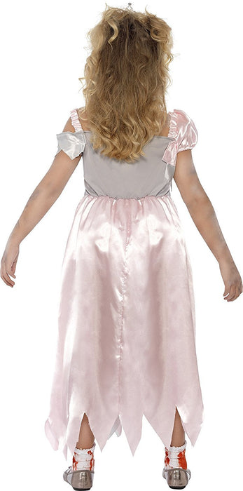 Smiffy's Children's Sleeping Zombie Princess Costume, Bloody Dress, Ages 4-6, Colour: Pink and Red, 44283