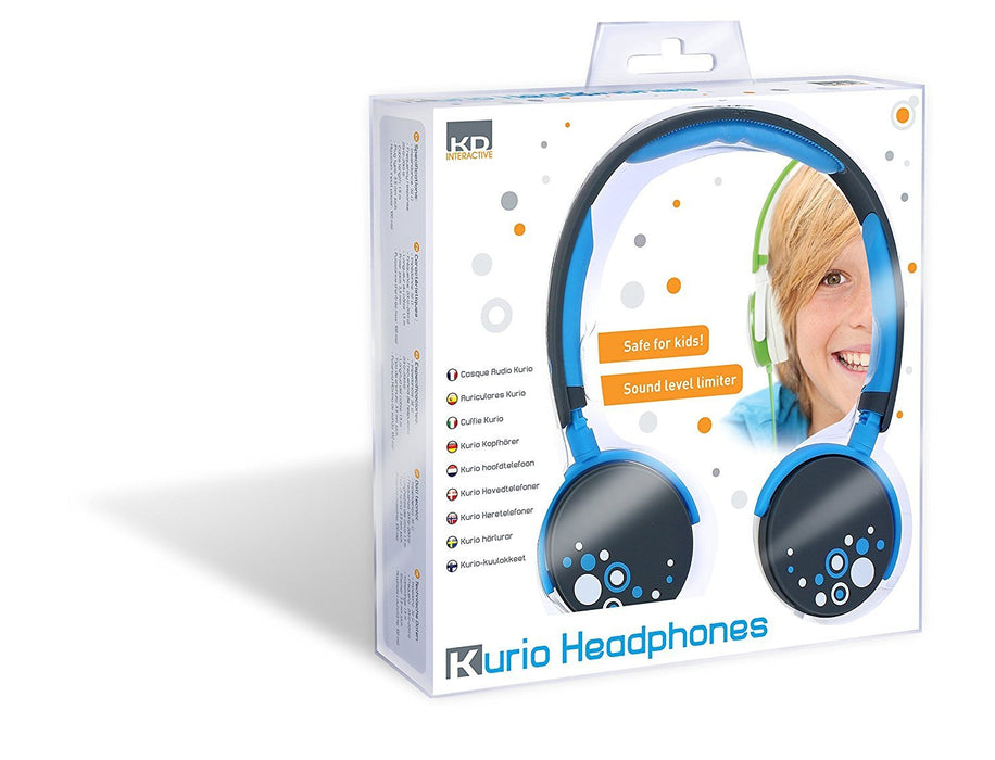 "Kurio CI1125GIB headphone - headphones (Circumaural, Head-band, 3.5 mm (1/8""), Blue, Closed, Wired)"