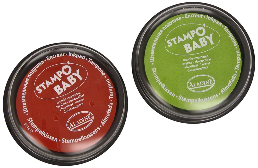 "Aladine ""Stampo Baby"" Stamp Pad Set (2-Piece, Red/Light Green)"