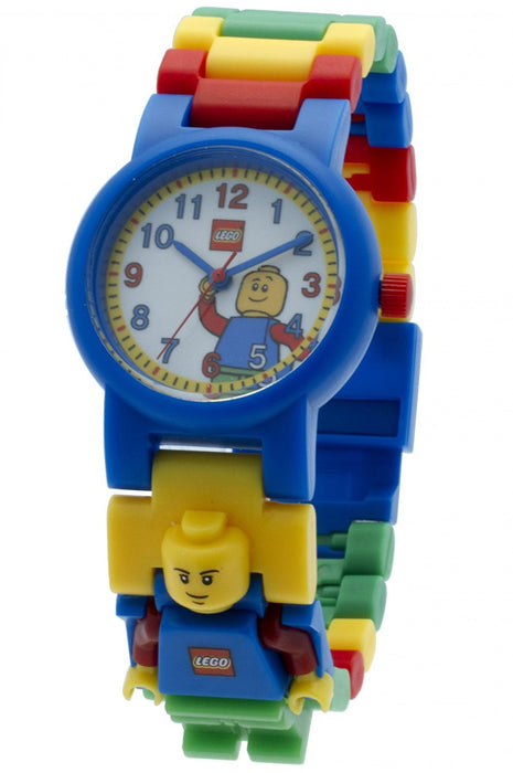 Lego Classic Children's Quartz Watch with White Dial Analogue Display and Blue Plastic or Pu Strap 8020189