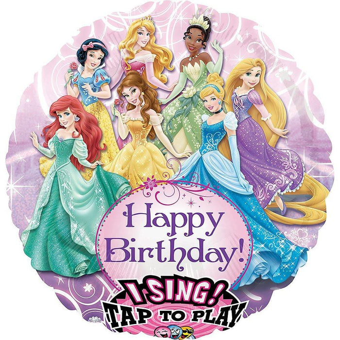 Amscan 28-inch/ 71cm Disney Princess Sing-A-Tune Plays Happy Birthday