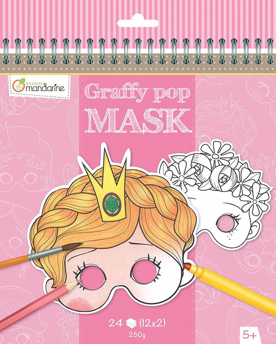 "Avenue Mandarine ""Sturdy Designs"" Graffy Pop Mask Colouring Pack (Black/White)"