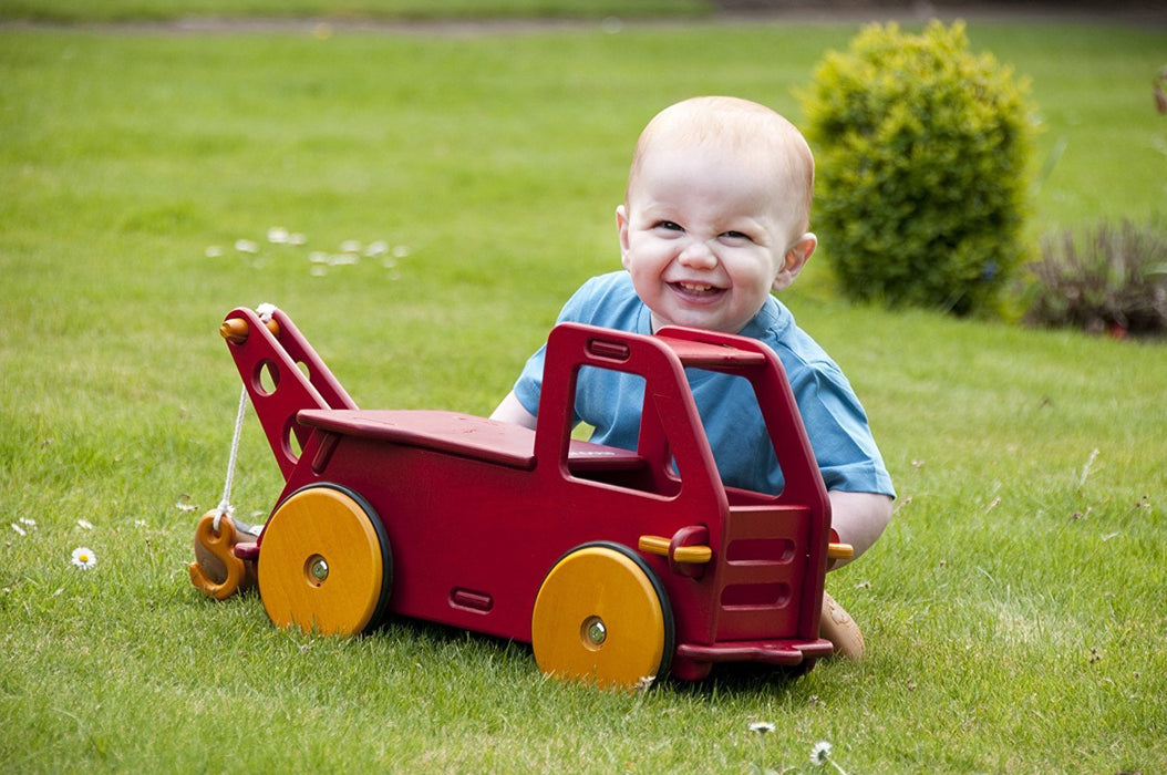 Moover Wooden Baby Truck - Red