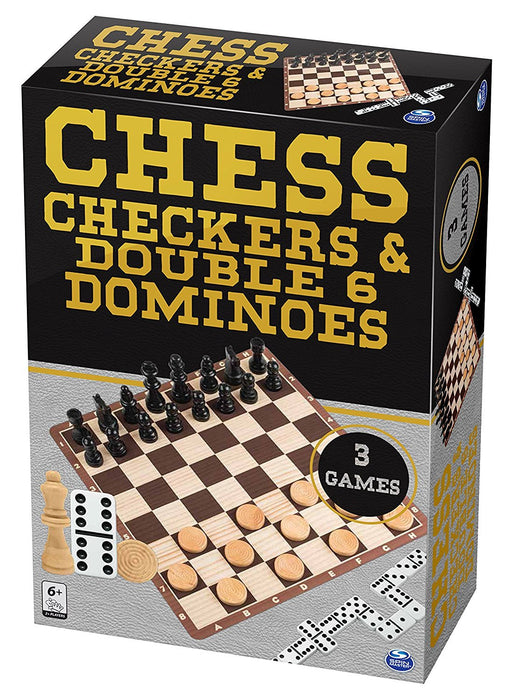"Spinmaster 6036775 ""Chess/Checkers/Dominoes"" Game"