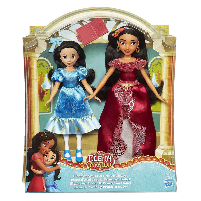 DISNEY PRINCESS B7371EU40 Elena of Avalor and Isabel Doll (Pack of 2)