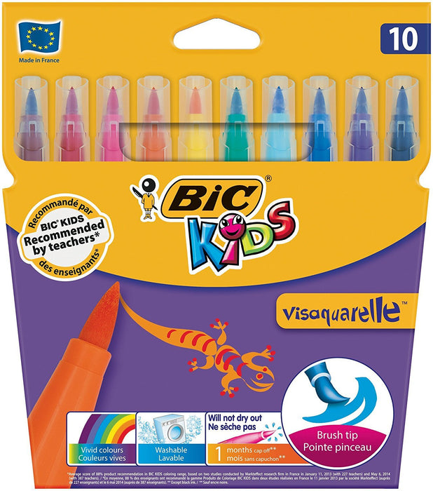 BIC Kids Visaquarelle Colouring Pens, Pack of 10