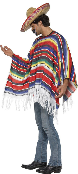 Smiffy's  Men's Poncho, Western, Serious Fun, One Size, 21860