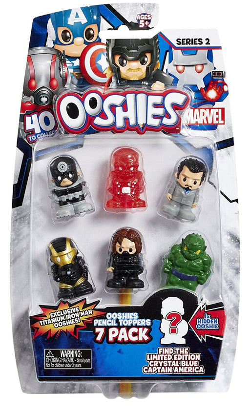 Ooshies 76604 Wave 2 Mix 2 Marvel Figure (Pack of 7)