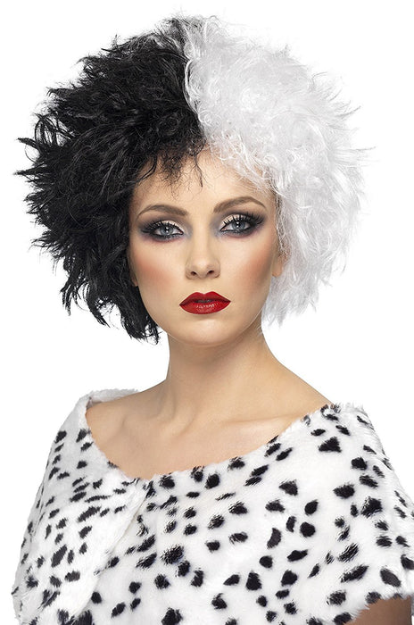 Smiffy's Evil Madame Wig - Black/ White