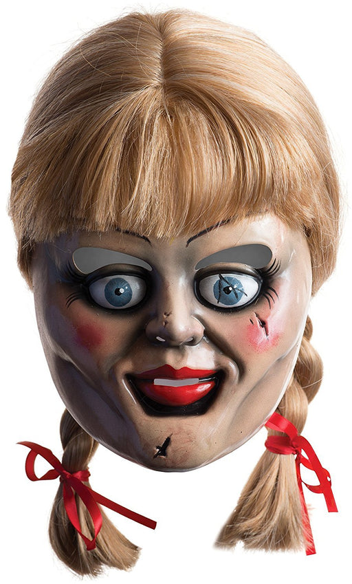 Rubie's Official Annabelle Mask with Hair - The Conjuring Horror Film Adult (One Size)