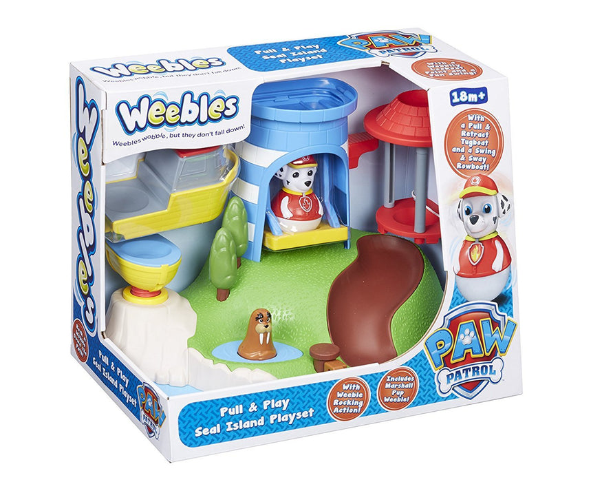 Weebles Paw Patrol Pull and Play Seal Island Playset