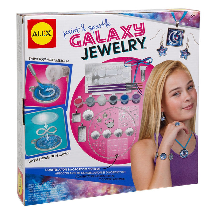 Alex Toys 611100-3 Do-it-Yourself Paint and Sparkle Galaxy Jewellery Craft