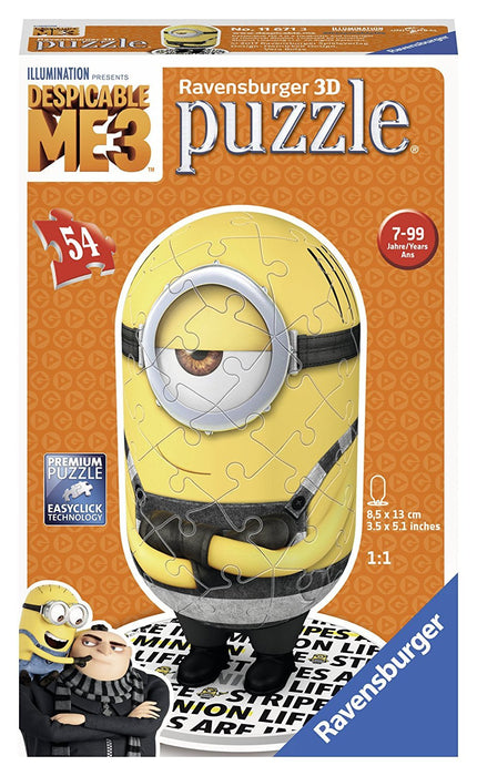 Ravensburger Minion, Prisoner Shaped 54pc 3D Jigsaw Puzzle