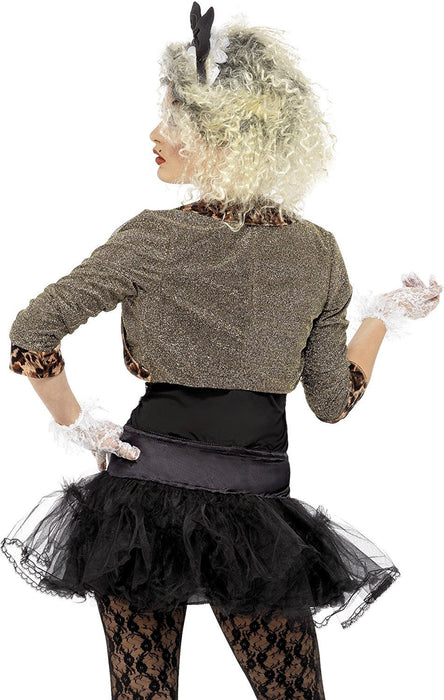 Smiffy's Adult Women's 80's Wild Child Costume, Jacket, Top, Tutu, Leggings Gloves and Headband, Back to the 80's, Serious Fun, Size: 12-14, 36233