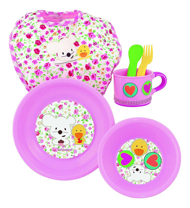itsImagical 87201 Baby Meal Pink Children's Dinnerware Set