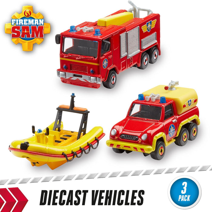 Fireman Sam 3-Pack of Diecast (Styles May Vary)