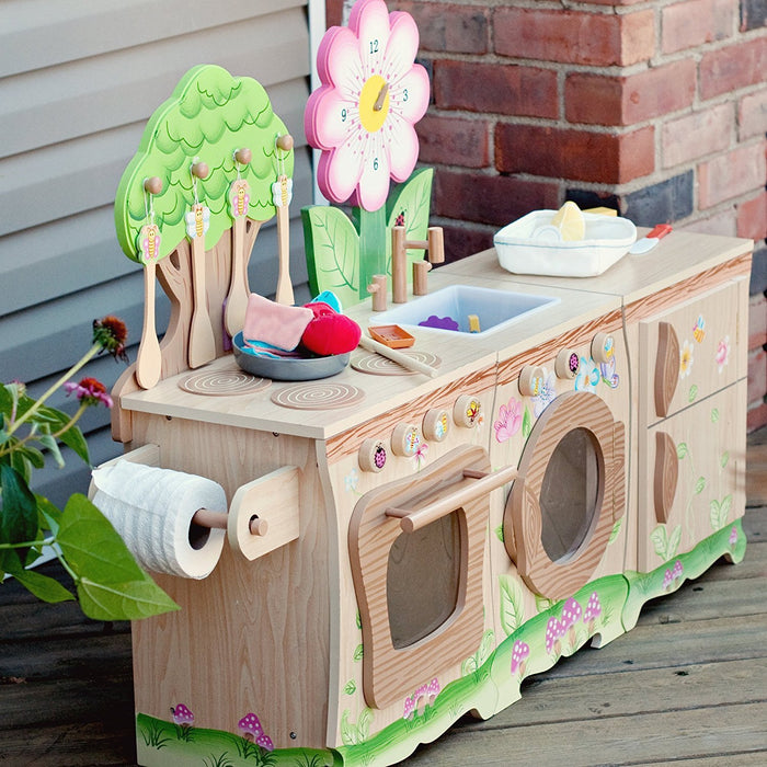 Teamson Kids Wooden Childrens Enchanted Forest Sink / Washer Kids Pretend Role Play Toy W-9648A